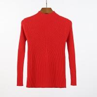 秋冬新款毛衣打底衫女针织衫套头修身中领女长袖半高领毛衣 均码