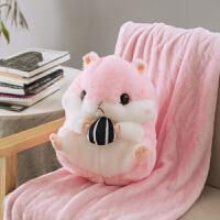 仓鼠暖手抱枕插手毛绒冬季鼠年吉祥物公仔手捂可爱礼充电式暖手宝