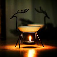 铁艺小鹿蜡烛香薰灯家用香薰炉精油炉spa会所精油灯炉 (10蜡烛1精油)