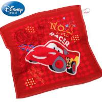 迪士尼Disney赛车总动员纱布方巾 纯棉小毛巾 卡通 柔软吸水 新品