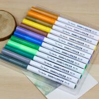 12色24色36色水彩笔儿童三角细杆涂鸦笔彩色笔