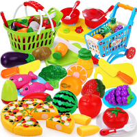 做饭煮饭厨具餐具套装水果切切乐儿童玩具过家家厨房3-6周岁7女孩