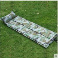 高回弹海绵睡垫自动充气垫折叠迷彩露营防潮单人带枕可拼接户外用品
