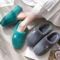 棉拖鞋女冬季家用室�缺E�毛�q情�H月子鞋秋冬包跟家居家男士冬天