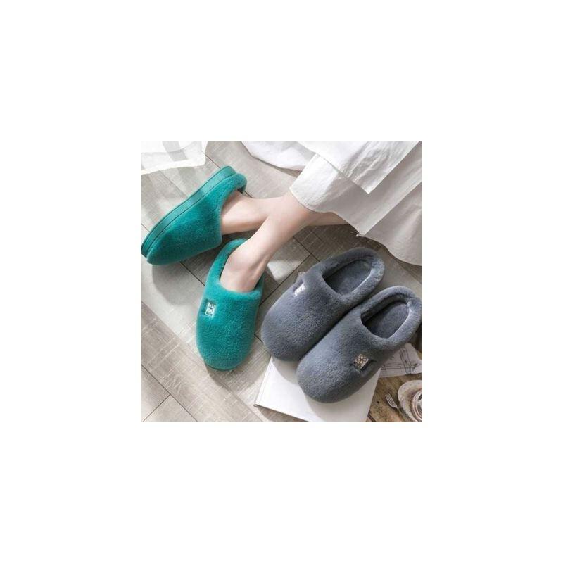 棉拖鞋女冬季家用室内保暖毛绒情侣月子鞋秋冬包跟家居家男士冬天
