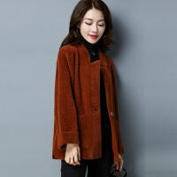 韩版宽松女士针织毛衣外套 2017冬季新品针织仿双面上衣开衫