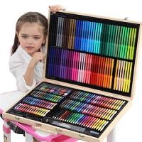 儿童画笔套装绘画水彩笔小学生画画工具文具女孩生日礼物美术用品礼品文具 251原木色 配礼品