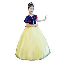 女童童话公主裙摄影礼服儿童新年公主裙长袖白雪公主裙子 白雪公主裙-【披风】【袖筒】