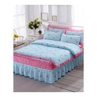 床裙式四件套床罩款带花边1.5m1.8m2米床上.
