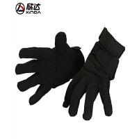 户外速降防滑手套战术登山黑鹰手套冬季全指手套男女攀岩装备 黑色