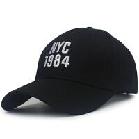 帽子女夏天鸭舌帽纯色棒球帽逛街韩版粉色帽子休闲百搭遮阳帽 1984 黑色 56-60cm可调节