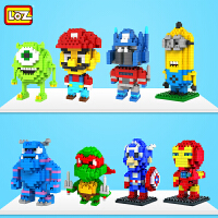 儿童玩具小颗粒微钻积木蝙蝠侠忍者神龟蜘蛛侠纳米拼插组装
