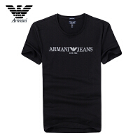 Armani阿玛尼正品 男士短袖T恤纯棉透气吸汗 夏季半袖凉爽 Z6H25KR两色