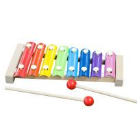 八音榉木手敲木琴 木制奥尔夫儿童早教音乐教具 儿童益智玩具
