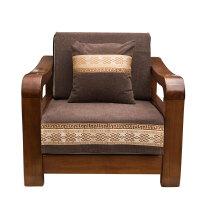 实木沙发垫中式四季通用布艺坐垫防滑客厅皮沙发垫子沙发坐垫 回字纹布艺款 深咖
