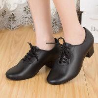拉丁舞鞋中跟女式教师交谊舞鞋女室外广场舞蹈鞋软底