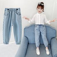 女童裤子儿童牛仔裤中大童韩版春季薄款宽松长裤