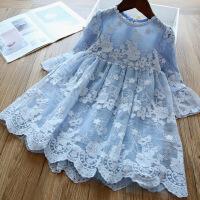 女童公主裙儿童连衣裙刺绣网纱蓬蓬裙礼服裙子
