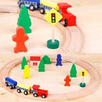 托马斯小火车头玩具套装火车宝宝场景积木玩具THOMAS木质磁性轨道