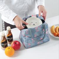 泰蜜熊韩国饭盒袋女保温袋便当袋手提包带饭的袋手拎袋帆布袋学生拎午餐