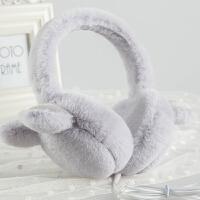 冬季音乐耳罩可折叠保暖耳捂女护耳可爱兔耳耳包毛绒耳暖学生耳套