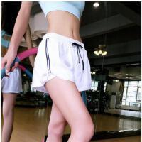 训练跑步健身瑜伽运动短裤女速干透气拉链边含内衬防走光热裤 可礼品卡支付