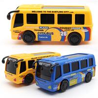 儿童电动玩具车巴士车电动公共汽车音乐灯光万向大客车