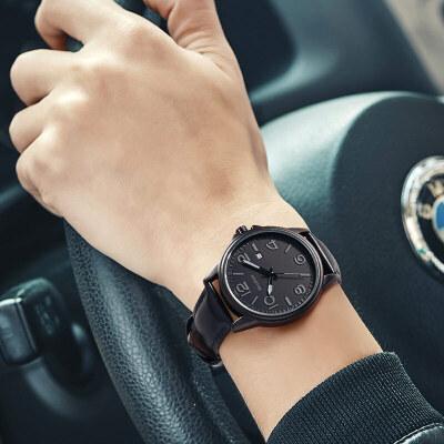 青少年手表高中学生运动简约休闲夜光皮带机械表