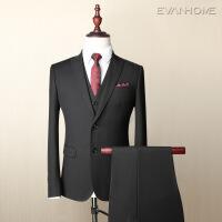 秋季商务西服套装男正装修身型新郎结婚礼西装外套三件套 EVXF059