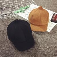 儿童冬季帽子鸭舌帽男女宝宝马术帽贝雷帽加绒保暖八角帽韩版潮秋