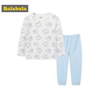 巴拉巴拉男童儿童内衣套装秋衣秋裤宝宝睡衣保暖长袖卡通家居服棉