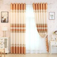 北欧窗帘成品遮阳棉麻遮光窗帘布简约现代卧室平面窗客厅落地窗