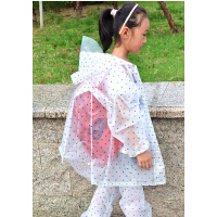 【包邮、注:偏远地区不包邮】 儿童雨衣带书包位学生分体雨衣男童女童亲子装 成人透明雨衣