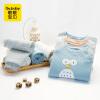 【尾品汇专区:买4免3】歌歌宝贝婴儿三层保暖衣套装秋冬男女宝宝夹棉内衣两件套
