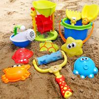 儿童沙滩玩具车套装大号宝宝玩沙子决明子铲子工具