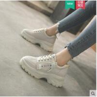 白色单鞋女运动鞋学生百搭厚底松糕日系新款ins简约时尚洋气