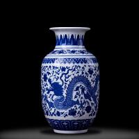 【品牌热卖】景德镇陶瓷器花瓶仿古青花瓷大号中式家居客厅插花古典装饰品摆件
