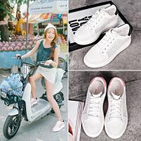 【毅雅】夏季新款透气平底小白鞋网鞋白色运动休闲鞋板鞋YD6PW1509