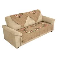 四季通用布艺沙发垫欧式包沙发套沙发罩巾田园刺绣防滑夏季坐垫・