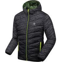 KELME卡尔美 K46C5049 男式迷彩羽绒服 连帽双面穿外套 户外休闲保暖羽绒外套
