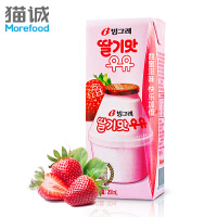 【韩国进口】Binggrae/宾格瑞草莓味牛奶200ml 奶饮草莓牛奶 营养早餐牛奶