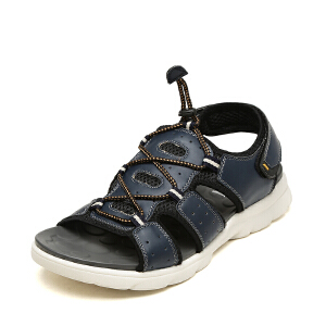 SHOEBOX/鞋柜夏季男士凉鞋魔术贴防滑凉拖鞋