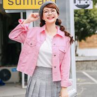 2018春季新款韩版小清新牛仔外套女短款薄款宽松夹克春秋上衣薄夏