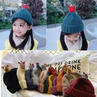 宝宝毛线帽子针织秋冬季儿童潮