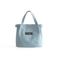 夏季新款潮流女士单肩手提包时尚帆布水桶包便当包儿童饭盒袋