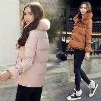 短款棉袄冬装女新款韩版宽松大毛领棉衣外套连帽加厚保暖