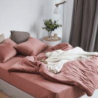 紫馨天鹅绒四件套保暖床单被套床上用品冬季水晶法莱绒 加大1.8床 被套220*240 床笠180*20