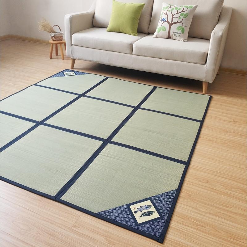 日式榻榻米地毯 天然蔺草席折叠客厅茶几宝宝爬行垫沙发地垫