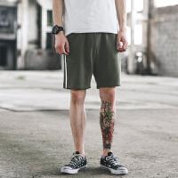 夏季潮流简约条纹男士短裤纯色简约卫裤中裤透气沙滩裤 M 2.1~2.2尺