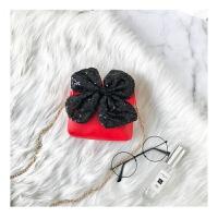 七夕礼物儿童包包女公主时尚包2018新款韩版链条单肩包蝴蝶结斜挎包宝宝包